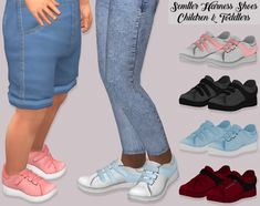 Semller Harness Shoes Children and Toddlers• 75 Swatches  • Unisex  • HQ Mod Compatible  • Children and toddlers  • Custom Catalog Thumbnails  • Credits: to @semller  • Download on my website