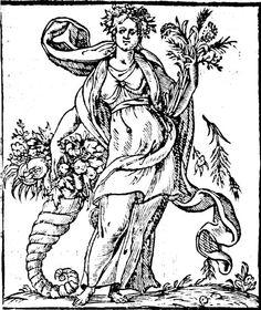 Abundancia, Iconologia Cesare Ripa
