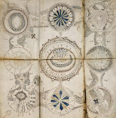The Voynich manuscript is an illustrated codex hand-written in an unknown writing system. The vellum from the books provides a carbon-date to some time in the early 15th century (1404–1438), possibly composed in Northern Italy during the Italian Renaissance. The manuscript is named after Wilfrid Voynich, a Polish book dealer who purchased the object in 1912.