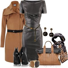 No. 794 - Leather dress, created by elke-koscher on Polyvore