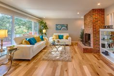 BuildDirect – Engineered Hardwood - Handscraped Collection – Hickory - Living Room View