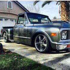 Custom Pickup Trucks, Chevy Pickup Trucks, Classic Chevy Trucks, Gm Trucks, Chevrolet Trucks, Cool Trucks, Chevy Stepside, Silverado Truck, Chevy Pickups