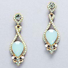 beautiful and elegant mint earrings