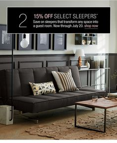15% off select sleepers*