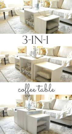 Coffee table plans that you can use in so many different configurations!