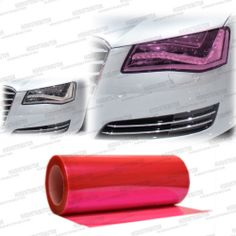 """Pro 48/""""x12/"""" Red Gloss Vinyl Film Sun Visor Window Wrap for Mercedes /& more"""