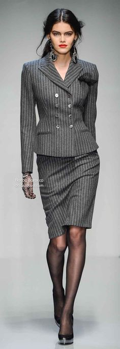 Roccobarocco Fall Winter 2013-14. Pinstripes are another great way for brave men to enter the world of fashion equality.