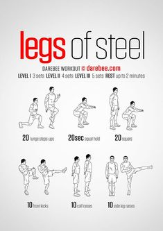 Legs Of Steel Workout Gym Workouts Leg Bodyweight Home Fitness Calisthenics Fitness Workouts, Gym Workout Tips, At Home Workouts, Leg Bodyweight Workout, Home Leg Workout Men, Leg Workouts For Men, Sprint Workout, Workouts Hiit, Mma Workout