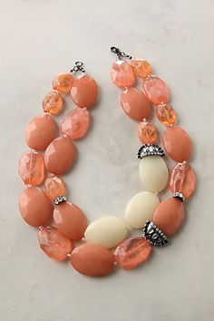 I'm probably a little young yet to wear such big beads but I love the combination and weight of this necklace.
