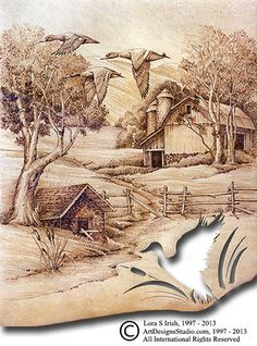 Pyrography Site with Free Patterns | fur and hair mapping your pyrography patterns flamingo pyrography ...