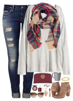 """oh my gosh y'all tomorrow is December....."" by kaley-ii ❤ liked on Polyvore featuring Mavi, H&M, Look by M, Cole Haan, Adele Marie, Tory Burch, Vietri, Carolee, Dolce&Gabbana and Nixon"
