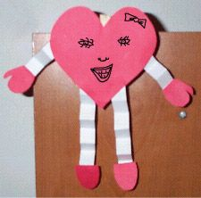 homemade valentine legs | list of the top 10 Valentine crafts for kindergarten