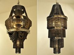 made from bicycle parts!!!  Creative Chandeliers and Cool Chandelier Designs (20) 5