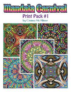 Mandala Carnival Print Pack #1 by Cristina McAllister - Digital Download