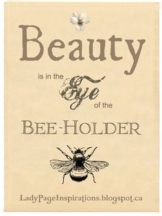 Eye of the Bee Holder!