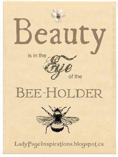 Eye of the Bee Holder!