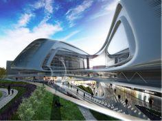 Modern Architecture Zaha Hadid zaha hadid, chinese architecture, futuristic building, sky soho