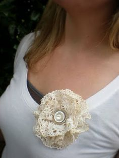 Doily Lace Flower Accessory tutorial