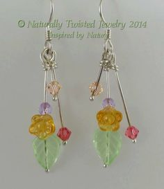 Spring Inspired Eearrings Argentium Sterling Silver by MaryOlczyk