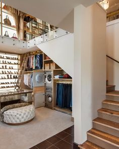 """""""Two story walk in closet with a washer and dryer.... Yes please!! By Red Rock Contractors"""""""