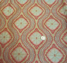 Vintage 1970s Upholstery Fabric-Mod Victoriana-2.7 Yards