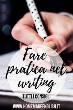 Come fare pratica nel writing English Grammar Rules, English Writing, Learning English, Writing A Book, Writing Prompts, English Language, English Games, Text Types, Marketing Jobs