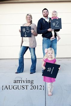 Cute idea to announce the next addition to the family