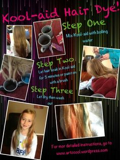 Kool-aid hair dye in 3 easy steps