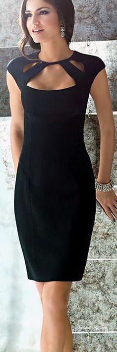 en trend siyah dar elbise modelleri