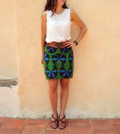 DIY wax skirt See noon at your door DIY couture and sustainable living Sewing Clothes, Diy Clothes, Diy Rock, Diy Fashion, Fashion Outfits, Diy Vetement, Couture Sewing, Africa Fashion, Mode Outfits