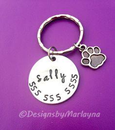 Personalized Pet Tags, Cat ID Tag, Custom ID Tags, Dog Collar Tag, Hand Stamped Tag, Pet Gifts, Pet Accessories, Metal Dog Tags, Dog ID Tag