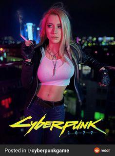 Cos Play, Cyberpunk 2077, Shadowrun, Game Design, Running, Crop Tops, Woman, Cover, Instagram