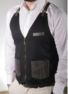 Paul vest apron barber от RassoWorkwear на Etsy