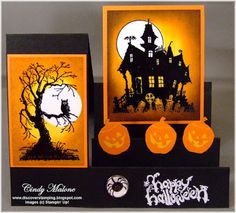"Discover Stamping: Halloween ""Side Step"" Card"