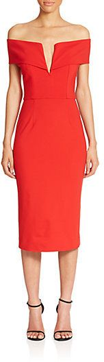 N / NICHOLAS Ponte Shoulder Band V Dress