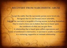Recovering from hookup a narcissistic woman