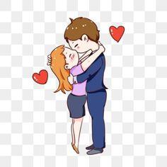 Love Cartoon Couple, Cute Love Cartoons, Cartoon Kiss, Romantic Hug, Hug Illustration, Couple Clipart, Romantic Drawing, Couple Hugging, Hand Clipart