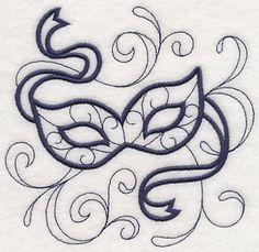 Carnival Doodle mask