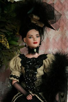 TONNER - VICTORIAN Evening Gown-Strolling Dress OUTFIT - for 22 inch American Model Doll - OOAK