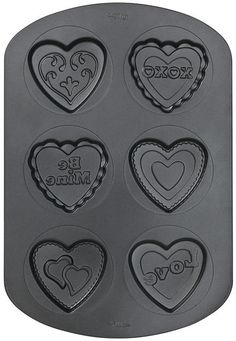 Make some heart shaped cupcakes for the love of your life with this Valentine Non-Stick Pan-6 Cavity. Smother it in frosting then store the pan for next year.