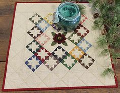 Scappy Version with wool appliqué and borders: $20 kit