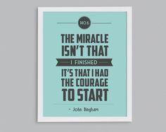 Ironman Triathlon 140.6 Courage to Start 8x10 by StephLawsonDesign, $15.00