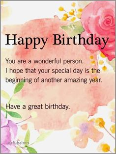 50 Best Of Happy Birthday Wishes Special Person