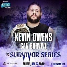 WWE Survivor Series Kevin Owens can survive. Wwe Survivor Series, Wwe Pay Per View, Kevin Owens, Wwe Photos, Wwe Wrestlers, Wwe Superstars, Champion, Survival, Wrestling