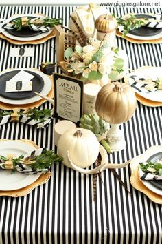 Holiday Entertaining Tips for Your Thanksgiving Table - Black, White and Gold
