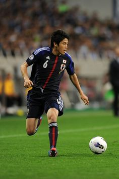 20120603   SAITAMA, JAPAN - JUNE 03:  Atsuto Uchida of Japan in actionduring the FIFA World Cup Brazil Asian Qualifier match between Japan and Oman at Saitama Stadium on June 3, 2012 in Saitama, Japan.