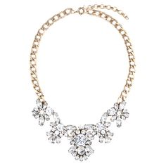 Chloe STATEMENT Necklace in Clear