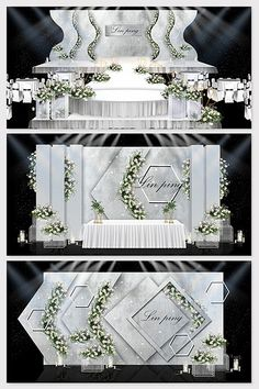 Over 1 Million Creative Templates by Pikbest Ing gray minimalist theme wedding renderings.