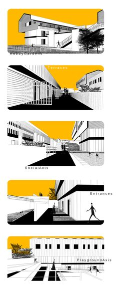 Novalife / Residential Project in Güzelbahçe İzmir / Analysis Architectural Presentation, Entrance, Architecture, Projects, Arquitetura, Log Projects, Entryway, Blue Prints, Door Entry