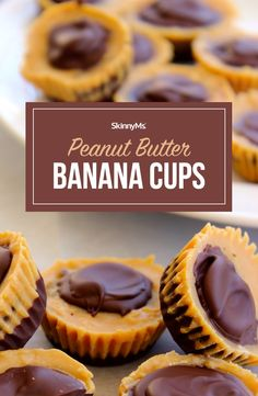 These scrumptious Peanut Butter Banana Cups are rich, chocolatey, peanut buttery cups that melt in your mouth, but are made with clean eating ingredients. Gluten Free Desserts, Healthy Desserts, Easy Desserts, Delicious Desserts, Yummy Food, Candy Recipes, Snack Recipes, Dessert Recipes, Peanut Butter Recipes